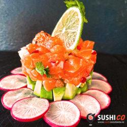 Salmon Tartar sushico